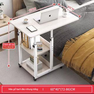 Bàn máy tính bàn phụ bàn nhỏ bàn làm việc gỗ bàn học di động có bánh xe bàn máy tính gỗ nhỏ dùng trên giường di động bàn phòng ngủ phòng làm việc bàn máy tính đa năng sáng tạo hiện đại Bắc Au 1