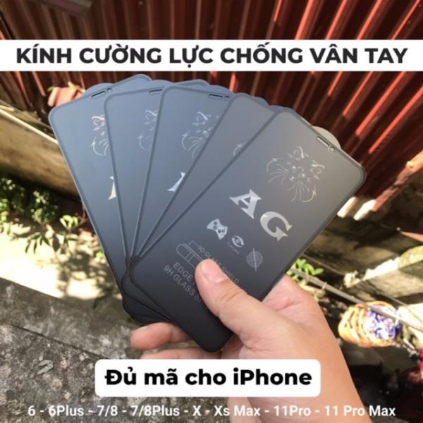 [Đã Có Ip 12 ] Kính Cường Lực Chống Vân Tay Ag Cho Iphone 6 Đến Ip 12 Promax
