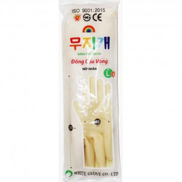Combo 10 Đôi Găng tay cao su rửa chén Cầu Vồng dài 39cm size L, găng tay rửa chén, rửa bát Cầu Vồng dài 39cm
