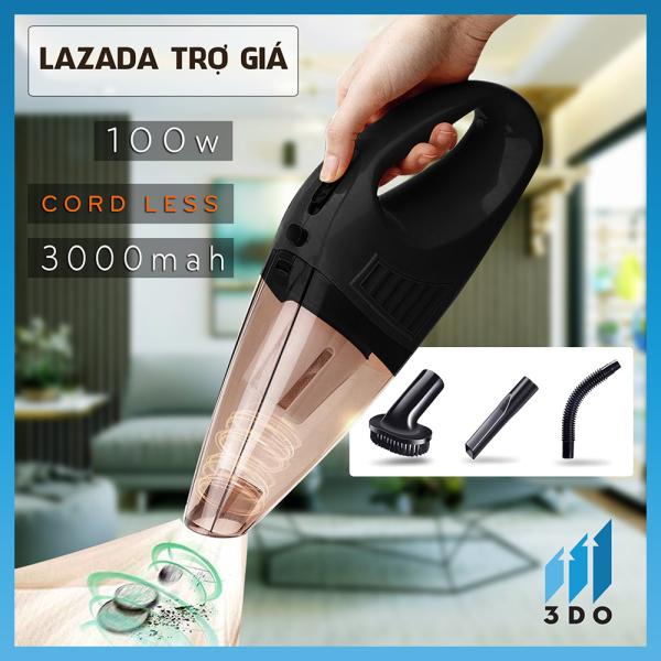 Máy hút bụi cầm tay không dây 3DO-A016, Máy hút bụi mini dùng để hút bụi ô tô, ghế sofa, sàn nhà, Nhỏ gọn, hút mạnh, Bảo hành 6 tháng, 1 đổi 1 trong 7 ngày