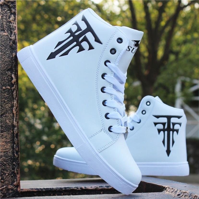 Giày cổ cao nam màu trắng in Cây Thánh Giá cực ngầu chất - Sudoo giá rẻ