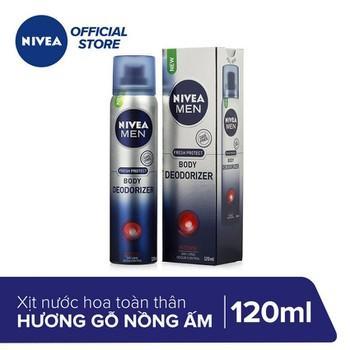 (HSD 01/2021) Xịt mùi toàn thân Nivea Men Hương gỗ nồng ấm 120ML chính hãng