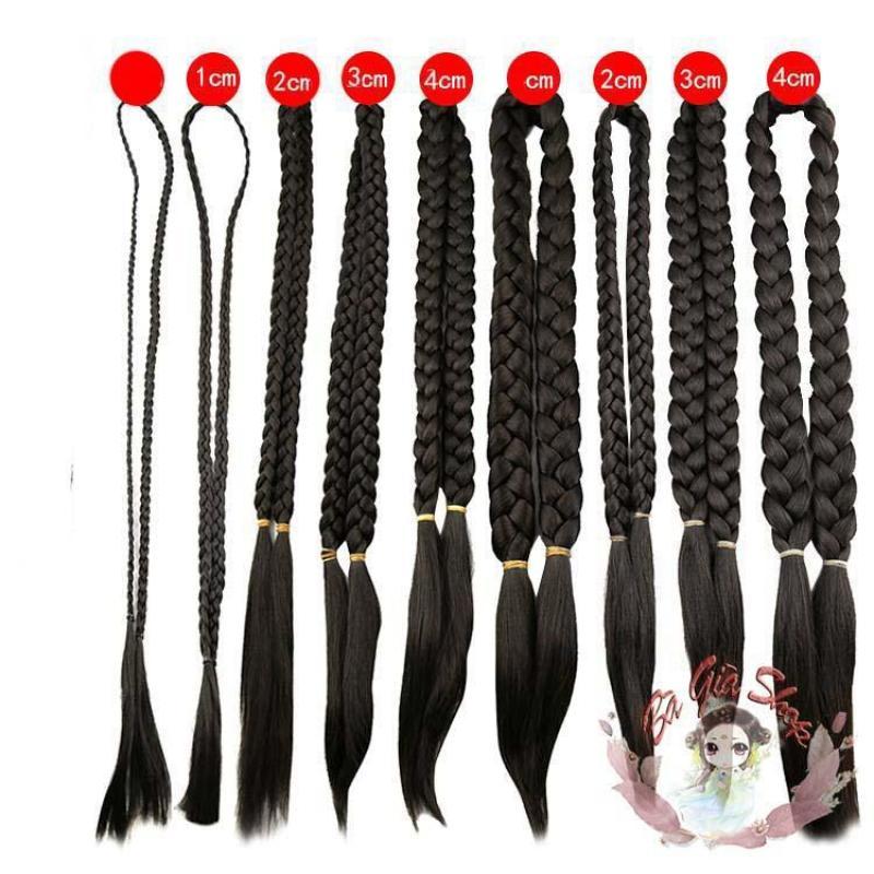 BÍm tóc giả bím tóc đôi dài loại 1cm nhập khẩu
