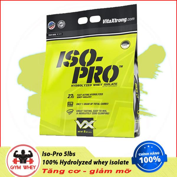 [Lấy mã giảm thêm 30%]Sữa Dinh Dưỡng Tăng Cơ Nhành VITAXTRONG ISO PRO 8lbs (3.7 kg)
