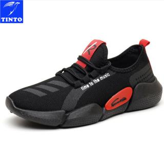 Giày nam cổ ngắn in chữ độc đáo +1 đôi tất khử mùi 1401DE thumbnail