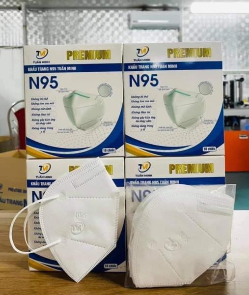 CHỈ 2K/ CÁI. Hộp 10 chiếc khẩu trang KN95 với 5 lớp chống bụi và kháng khuẩn, khẩu trang y tế người lớn nhập khẩu