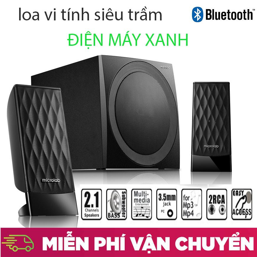 dienmayxanh - Loa dàn , Loa máy tính Microlab M300BT/2.1 - Loa vi tính Microlab M300BT công suất lên đến 38W, hệ thống loa 2.1 giúp bạn tận hưởng những âm thanh hoàn toàn khác so với loa laptop