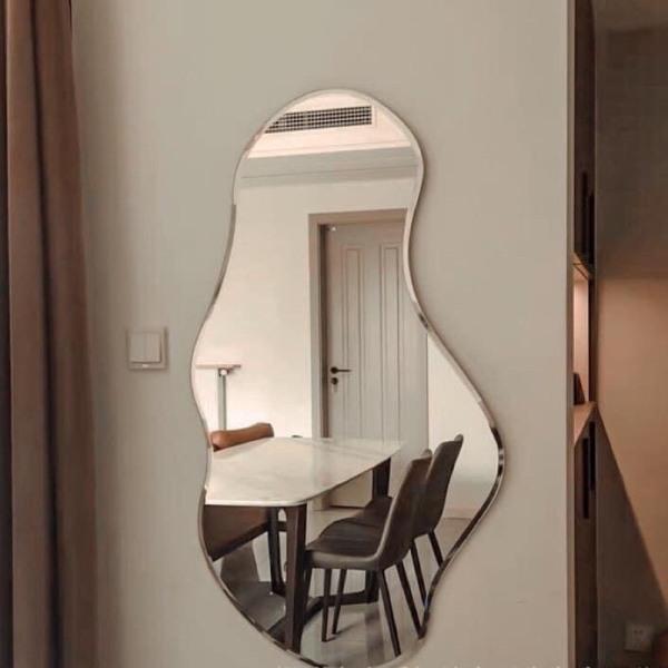 Gương hạt đậu treo tường led cảm ứng VUADECOR treo phòng tắm, phòng ngủ, decor