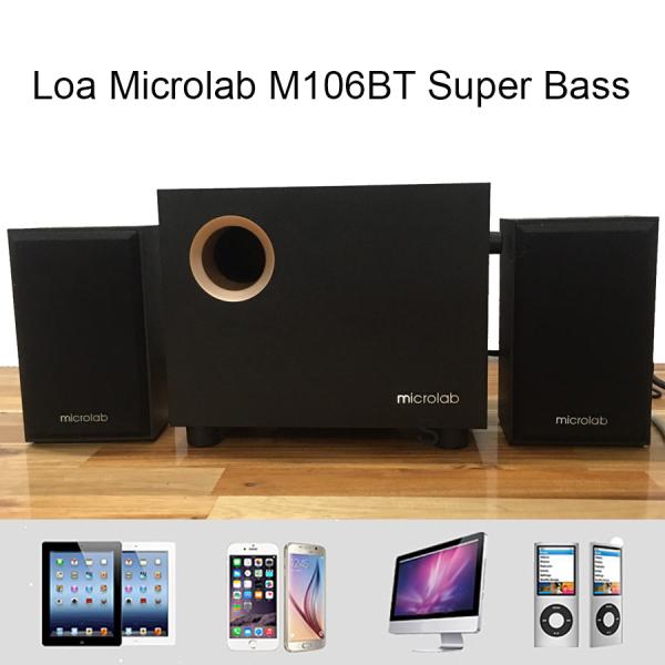 Bảng giá Loa Vi Tính Công Suất Lớn, Loa Vi Tính Bluetooth Microlab M106BT/2.1 Cao Cấp, Loa Super Bass, Thiêt Kế Mạnh Mẽ, Đẳng Cấp Âm Thanh, Nghe Cực Phê, BH 12 Tháng Phong Vũ
