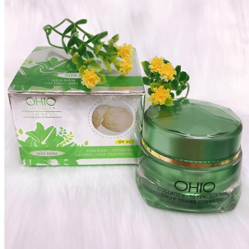 Kem trị Nám, Trắng da, Tái tạo, Xóa tàn nhang dưỡng chất Collagen và Tổ Yến OHIO (18g) nhập khẩu