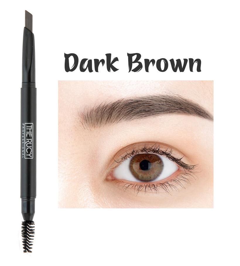 Chì kẻ chân mày The Rucy Auto Eyebrow Pencil (Dark Brown) 0.3g nhập khẩu