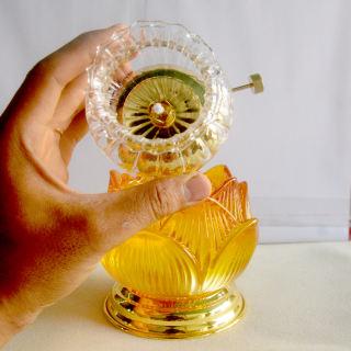 Đèn dầu hoa sen vàng thờ cúng bàn thờ - hình 2