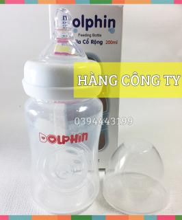 [Tặng 1 Núm Ty] Bình Sữa Cổ Rộng 200ml Dolphin - DP019 thumbnail