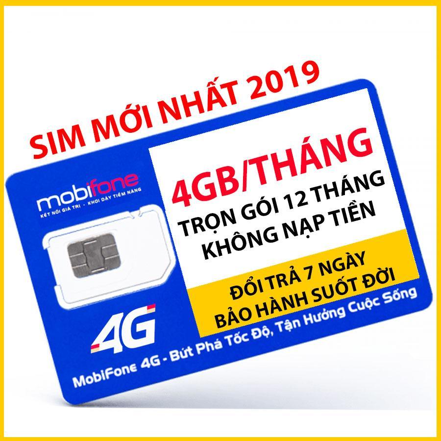 ⚡️GÍÁ HỦY DIỆT⚡️ Sim 4G Mobifone F500N 4GB / tháng - Trọn gói 12 tháng không nạp tiền