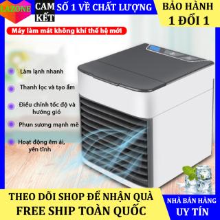Máy Điều Hòa Mini Bằng Nước Đá Công Suất Lớn - Quạt điều hòa hơi nước để bàn - Tạo độ ẩm, không làm khô da - Có chức năng lọc không khí - Độ Bền Cao thumbnail