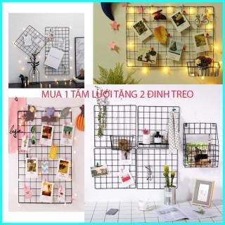 Khung Lưới Trang Trí Nghệ Thuật- Khung Lưới Sắt Treo Tường Decor Phòng- Tặng Kèm Đinh 3 Chân thumbnail