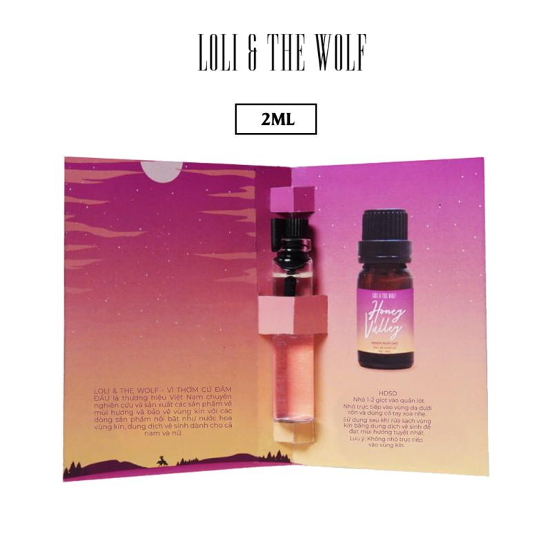 Nước hoa vùng kín nữ Honey Valley chai 2ml nhỏ gọn tiện lợi - LOLI & THE WOLF cao cấp