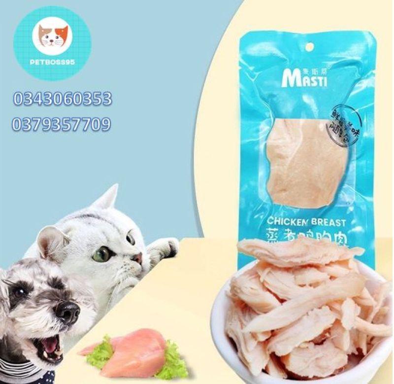 Ức gà hấp Masti ăn liền -thức ăn nhanh cho chó mèo thú cưng 40G