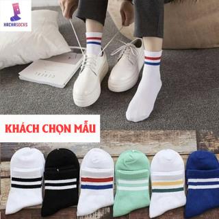 Vớ Tất Sọc Nữ Hàn Quốc Loại Vải Tốt - Size Tất Dài - Chân 37 - 41 thumbnail