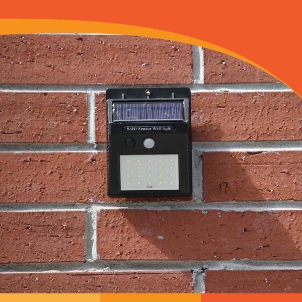 20 SMD LED Solar PIR Sensor Light Lamp Garden External Use No Wiring Req Amtech Đèn năng lượng mặt trời, dùng cho sân vườn-ET070