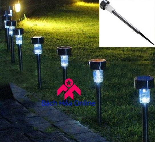 Đèn năng lượng mặt trời cắm sân vườn V1 - chân đế bằng sắt - Đèn trang trí sân vườn