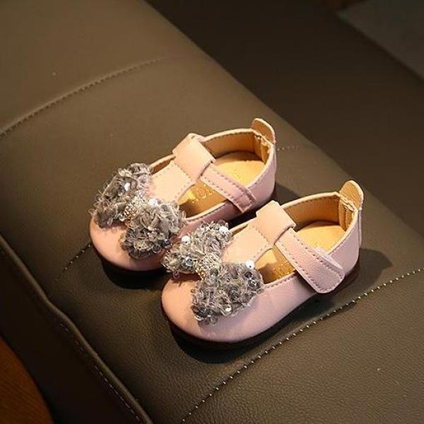 Giá bán giày tập đi bé gái size 16-20 nơ xinh