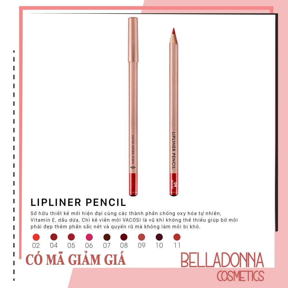 Chì Kẻ Viền Môi Vacosi Lipliner Pencil No.4 Brick Red tốt nhất
