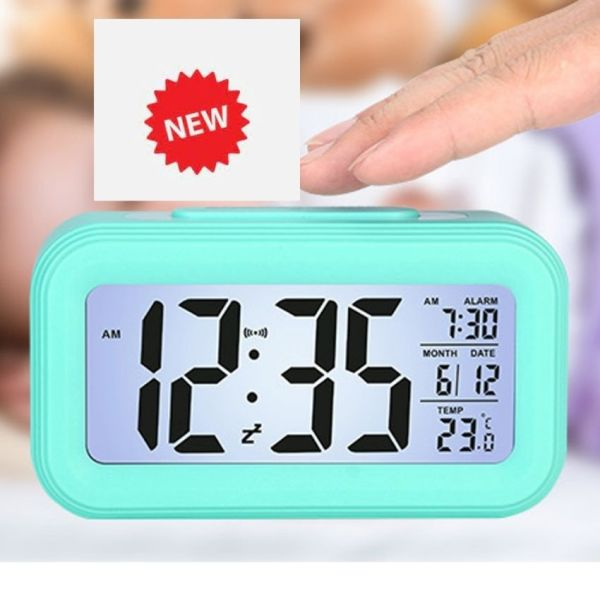 Đồng hồ để bàn màn hình LED. Đa năng: Báo thức, Lịch, Nhiệt độ. Đồng hồ điện tử LCD HOME SMART MẦU NGẪU NHIÊN