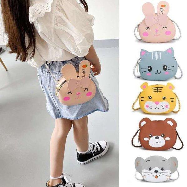 Túi đeo chéo cho bé gái mini ZAKUDO dễ thương, ngộ nghĩnh, thời trang hình ĐỘNG VẬT da PU phong cách Hàn Quốc TX02