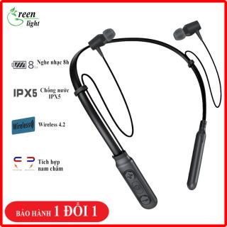 [SALE KHỦNG CHỈ HÔM NAY]- Tai nghe Bluetooth thể thao GL-B11,Pin trâu Bass sâu, tai nghe không dây có mic, tích hợp nam châm,(thay thế A10, Q32,i7s,i11,i12)-[GREEN LIGHT] thumbnail