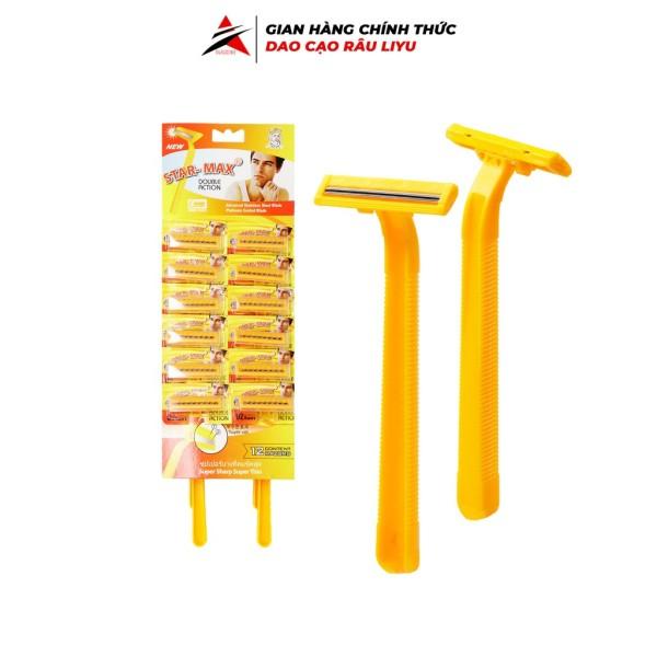 Dao cạo râu STAR MAX 12 cây dễ dàng sử dụng tiện lợi siêu hot