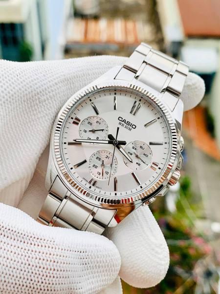 Đồng hồ nam mặt trắng Casio MTP 1375D-7AVDF Bảo hành 1 năm- Pin trọn đời Hyma watch