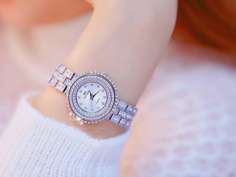 Nơi bán Đồng hồ nữ BS Bee sister đính đá cao cấp phong cách trẻ trung