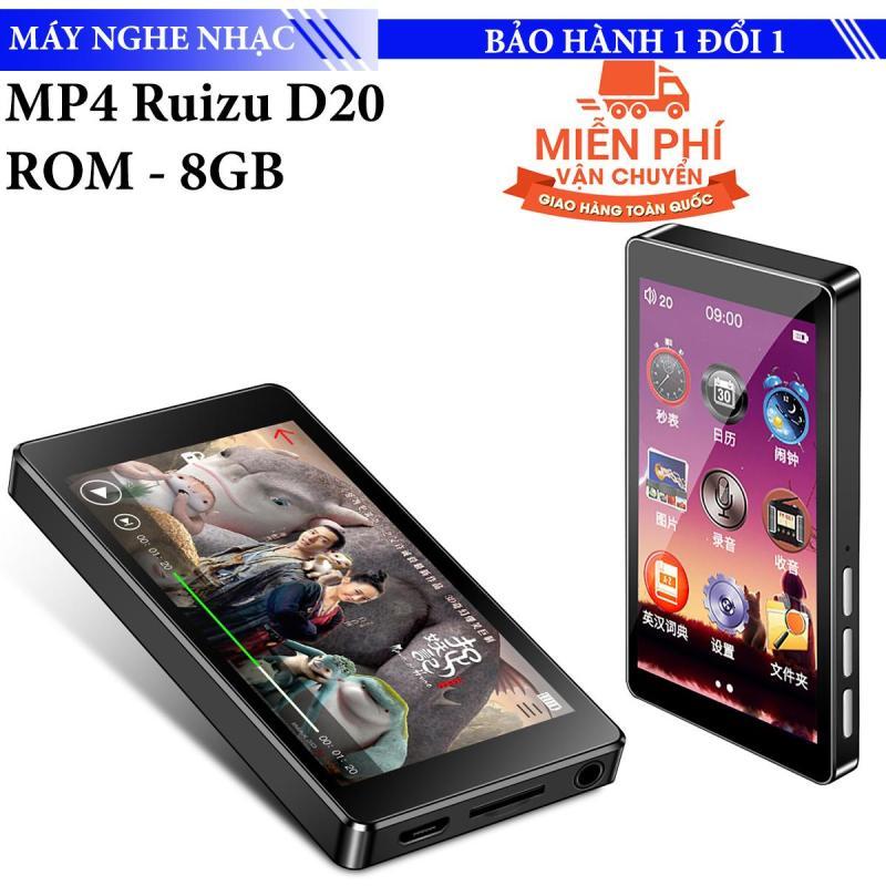 Máy nghe nhạc Mp3/Mp4 RUIZU D20 Màn hình cảm ứng Máy nghe nhạc MP3 8GB Máy nghe nhạc Khung Kim loại cầm tay có loa tích hợp Hỗ trợ FM Radio Ghi video E-Book