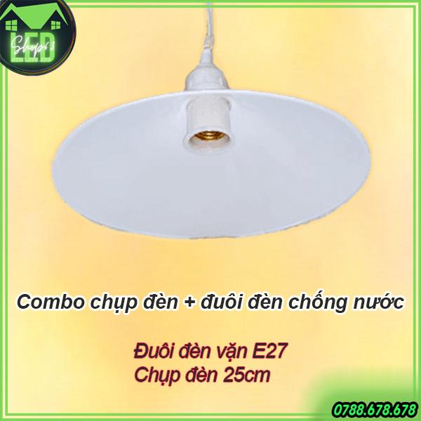 Bảng giá Bộ đuôi đèn E27 và chụp đèn kín nước - phù hợp dùng ngoài trời dành cho các loại đèn LED trụ