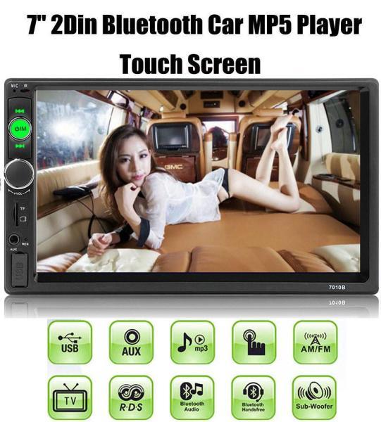 Màn hình cảm ứng ô tô HD 1080 7 Inc 7010B - Tích hợp Bluetooth, đọc thẻ nhớ, usb nghe nhạc MP3, xem video định dạng MP5 Player - Bảo hành 6 tháng lỗi đổi mới
