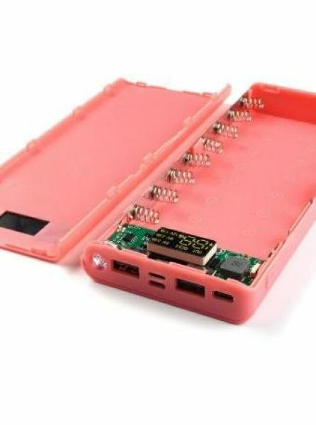 Bảng giá Box sạc dự phòng 8 cell QC 3.0 hỗ trợ sạc nhanh QC3.0 cả 2 chiều full cổng sạc, màu hồng Phong Vũ