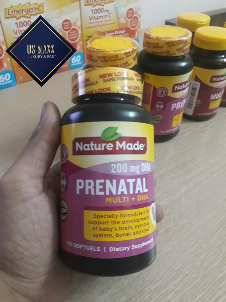 NATURE MADE PRENATAL + DHA (vitamin tổng hợp cho bà bầu 110v)