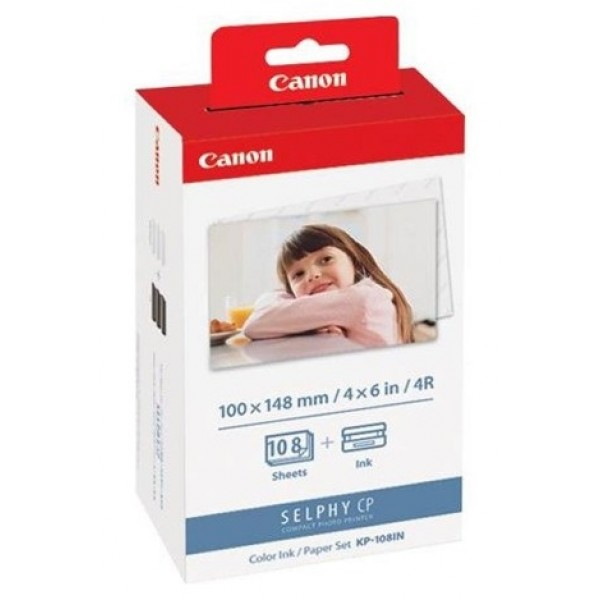 Giấy in ảnh Paper Set KP-108IN cho máy in Selphy Cp1300 Cp910 Cp1000 Cp1200 Cp820