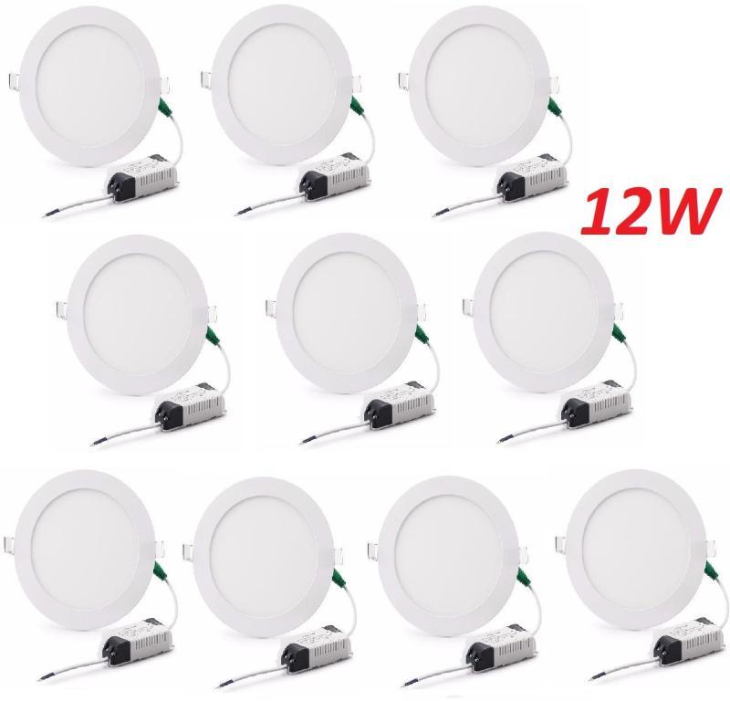 Combo 10 đèn led âm trần 12W cao cấp. Không chì thủy ngân bảo vệ môi trường. Tiết kiệm điện năng từ 50%-70%, tuổi thọ bền lâu