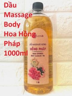 Dầu Massage Body Hoa Hồng Pháp chuyên dùng Spa ACENA trơn tay 1000ml thumbnail