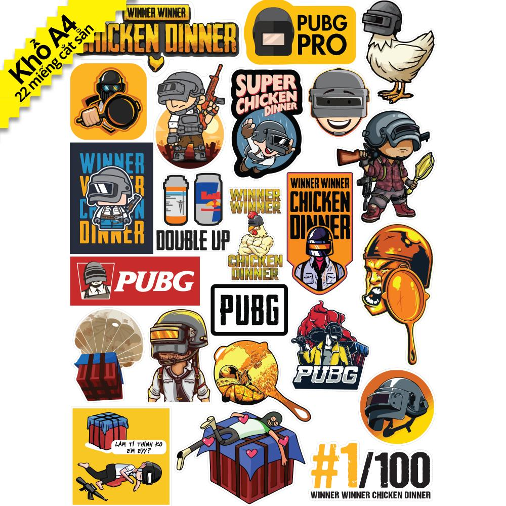Bảng giá Bộ Sticker Game PUBG Player Unknown Battleground - Chống Thấm Nước Phong Vũ