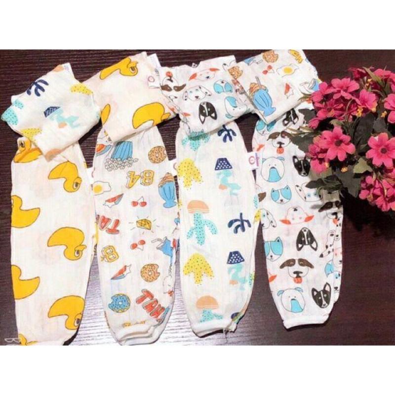 Combo 10 quần dài cotton giấy chất mềm cho bé