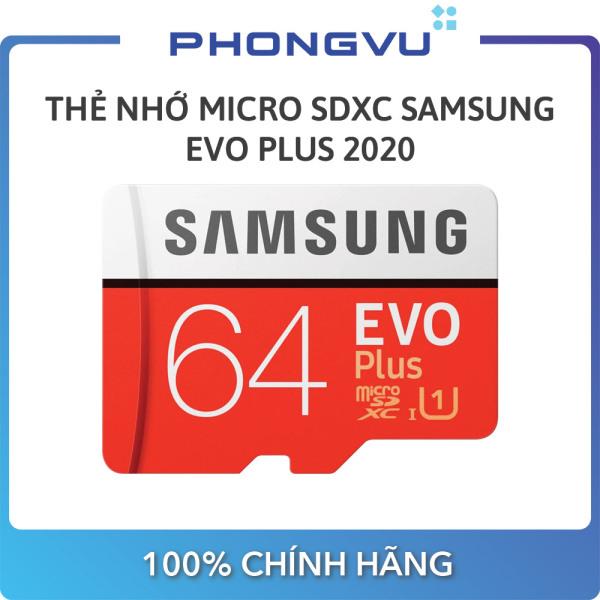 Thẻ nhớ Micro SDXC Samsung 64GB EVO Plus 2020 - Bảo hành 36 tháng