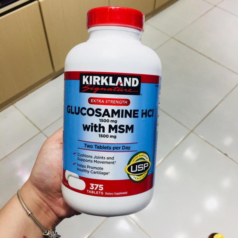 Viên uống bổ khớp KIRKLAND Signature Glucosamin HCL & MSM 1500mg 375 viên cao cấp