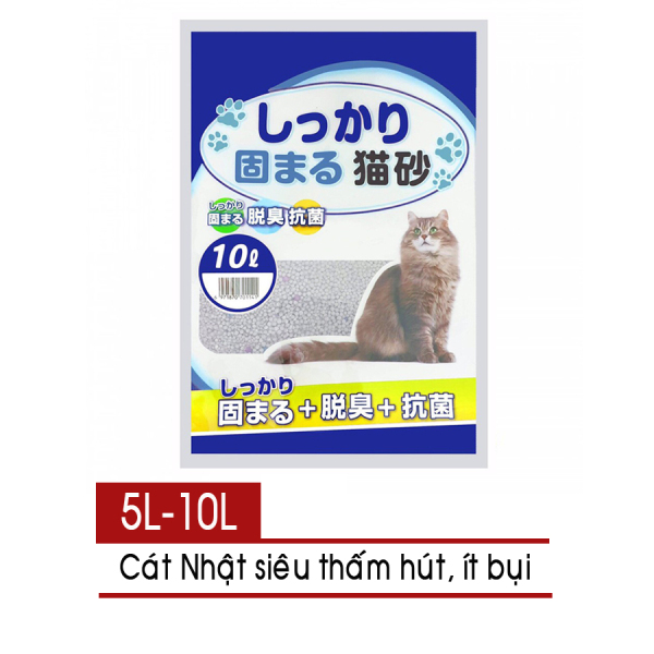 Cát vệ sinh cho mèo - Cát Nhật 5L - Cát Litter [Nông Trại Thú Cưng]