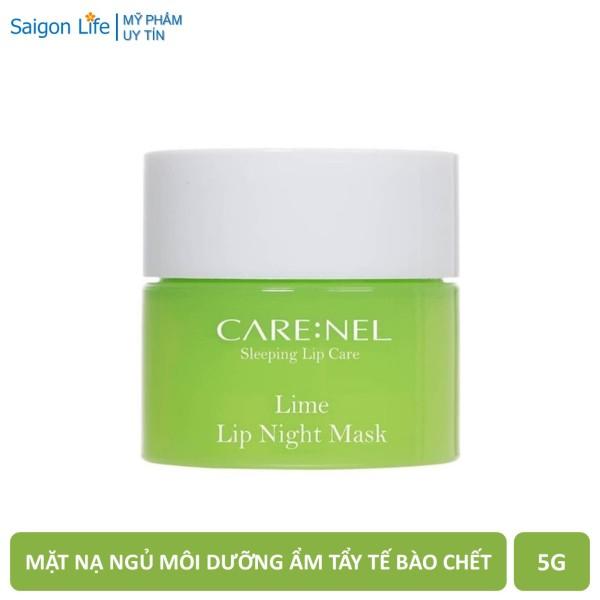 Mặt Nạ Ngủ Môi Dưỡng Ẩm, Tẩy Tế Bào Chết Môi Hương Chanh Care:nel Carenel Lime Lip Night Mask 5g - Xanh Lá