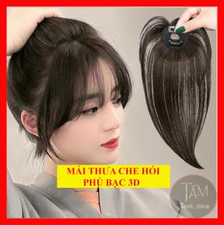 Mái thưa 3d tóc che hói đỉnh, tóc mái thưa hàn quốc - Chất tóc thật hàng loại 1 - M3D thumbnail