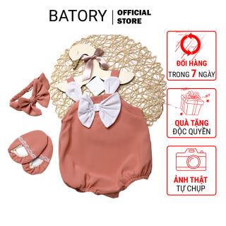 Set bộ body tai thỏ cho bé gái, trẻ sơ sinh từ 4-12 kg màu màu hồng nơ trắng TẶNG KÈM vớ & băng đô Hàng thiết kế Chất liệu siêu mềm mát và an toàn BATORY STORE Cửa hàng quần áo trẻ em