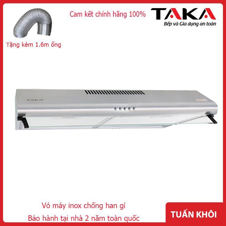 Máy hút mùi Taka Hc270s - vỏ inox chống han gỉ -lưới lọc bặc nhôm 5 lớp  độ ồn   45db